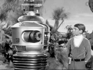 Lost in Space robot talking to Will Robinson