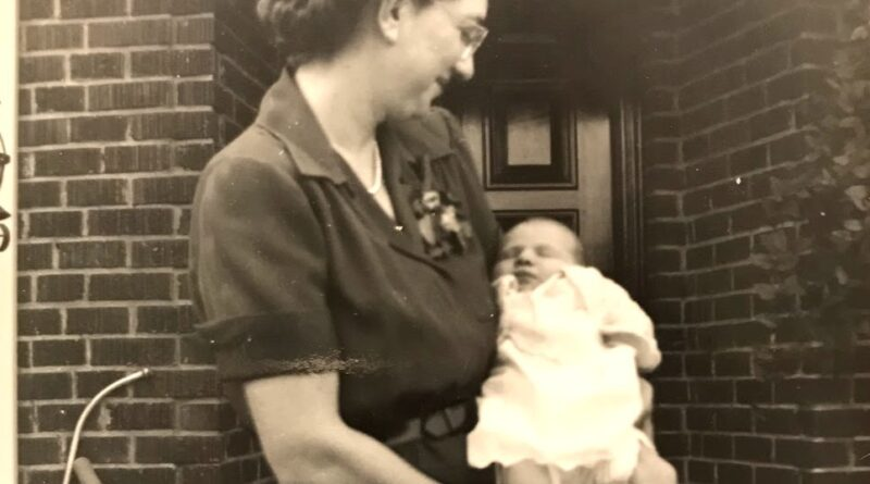 Mom holding baby Barbara